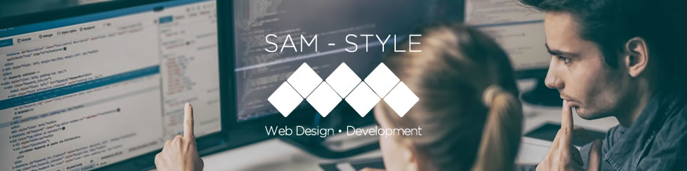 SAM - STYLE Web Design,blue,text,poster,font,advertising